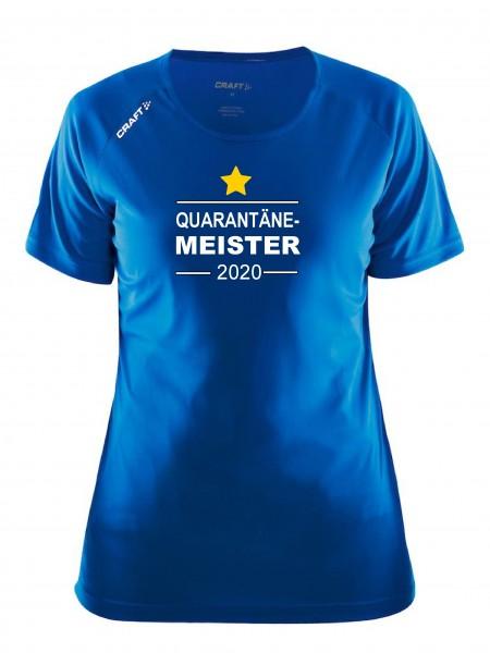 """Craft Damen-Meister-Shirt """" QUARANTÄNE MEISTER 2020 """" in 5 Farben"""