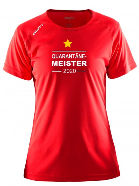 "Craft Damen-Meister-Shirt "" QUARANTÄNE MEISTER 2020 "" in 5 Farben"
