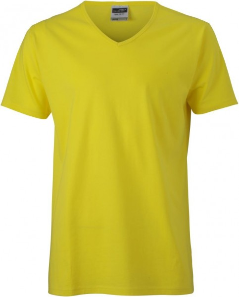 Men Slim Fit V T-Shirt