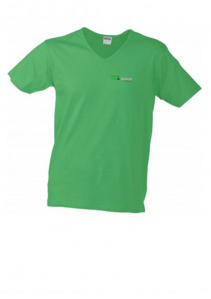 Men Slim Fit V T-Shirt-Hin-Gehört