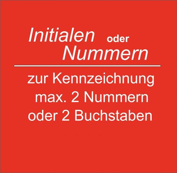 Nummern/Initialen zur Kennzeichnung